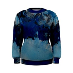Blue Abstract No.5 Women s Sweatshirts