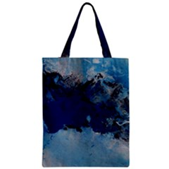 Blue Abstract No 5 Zipper Classic Tote Bags