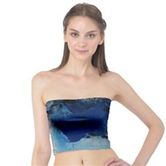 Blue Abstract No 5 Women s Tube Tops