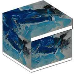 Blue Abstract No. 6 Storage Stool 12