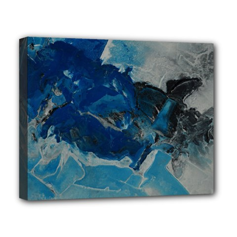 Blue Abstract No  6 Deluxe Canvas 20  X 16