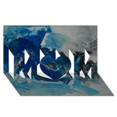 Blue Abstract No  6 Mom 3d Greeting Card (8x4)