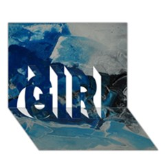 Blue Abstract No. 6 GIRL 3D Greeting Card (7x5)
