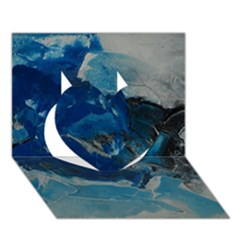 Blue Abstract No. 6 Heart 3D Greeting Card (7x5)
