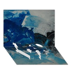 Blue Abstract No. 6 LOVE Bottom 3D Greeting Card (7x5)