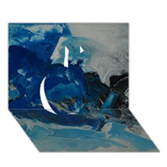 Blue Abstract No  6 Apple 3d Greeting Card (7x5)