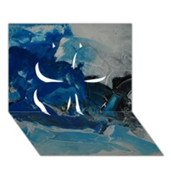 Blue Abstract No  6 Clover 3d Greeting Card (7x5)