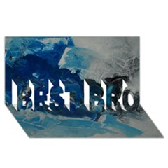 Blue Abstract No. 6 BEST BRO 3D Greeting Card (8x4)
