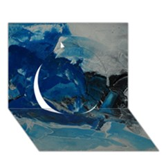 Blue Abstract No. 6 Circle 3D Greeting Card (7x5)