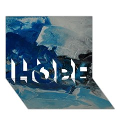 Blue Abstract No. 6 HOPE 3D Greeting Card (7x5)