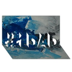 Blue Abstract No  6 #1 Dad 3d Greeting Card (8x4)