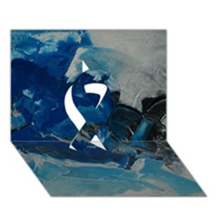 Blue Abstract No. 6 Ribbon 3D Greeting Card (7x5)