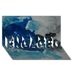 Blue Abstract No  6 Engaged 3d Greeting Card (8x4)