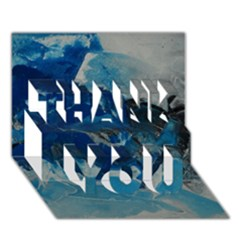 Blue Abstract No. 6 THANK YOU 3D Greeting Card (7x5)