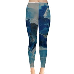 Blue Abstract No  6 Women s Leggings