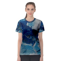 Blue Abstract No. 6 Women s Sport Mesh Tees