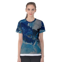 Blue Abstract No. 6 Women s Cotton Tees