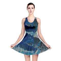Blue Abstract No. 6 Reversible Skater Dresses