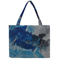 Blue Abstract No. 6 Tiny Tote Bags