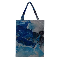 Blue Abstract No. 6 Classic Tote Bags