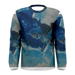 Blue Abstract No  6 Men s Long Sleeve T Shirts