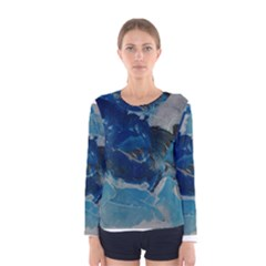 Blue Abstract No  6 Women s Long Sleeve T Shirts