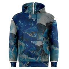 Blue Abstract No  6 Men s Pullover Hoodies