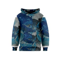 Blue Abstract No. 6 Kid s Pullover Hoodies