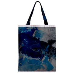 Blue Abstract No  6 Zipper Classic Tote Bags