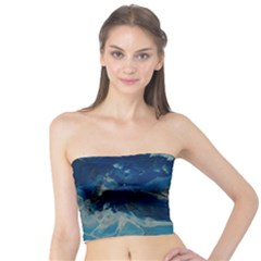 Blue Abstract No  6 Women s Tube Tops