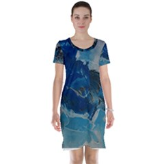 Blue Abstract No. 6 Short Sleeve Nightdresses