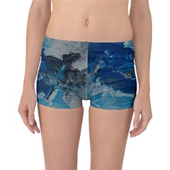 Blue Abstract No. 6 Boyleg Bikini Bottoms