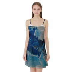 Blue Abstract No. 6 Satin Night Slip