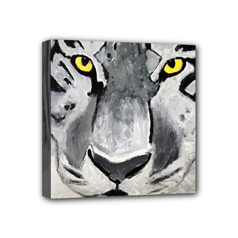 The Eye If The Tiger Mini Canvas 4  X 4
