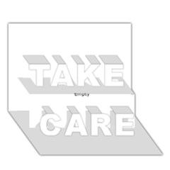 Love TAKE CARE 3D Greeting Card (7x5)