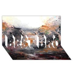 Natural Abstract Landscape BEST BRO 3D Greeting Card (8x4)