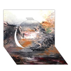 Natural Abstract Landscape Circle 3D Greeting Card (7x5)