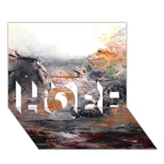Natural Abstract Landscape HOPE 3D Greeting Card (7x5)