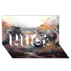 Natural Abstract Landscape HUGS 3D Greeting Card (8x4)