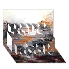 Natural Abstract Landscape You Rock 3d Greeting Card (7x5)
