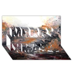 Natural Abstract Landscape Merry Xmas 3D Greeting Card (8x4)