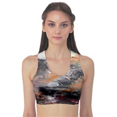 Natural Abstract Landscape Sports Bra