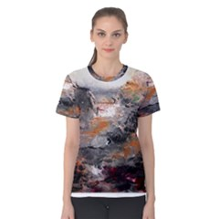 Natural Abstract Landscape Women s Cotton Tees