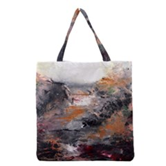 Natural Abstract Landscape Grocery Tote Bags