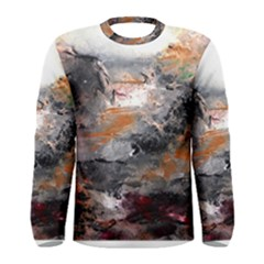 Natural Abstract Landscape Men s Long Sleeve T Shirts