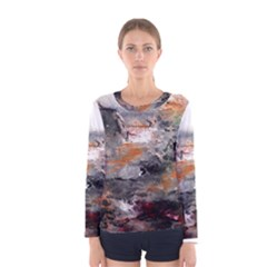 Natural Abstract Landscape Women s Long Sleeve T-shirts