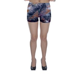 Natural Abstract Landscape Skinny Shorts