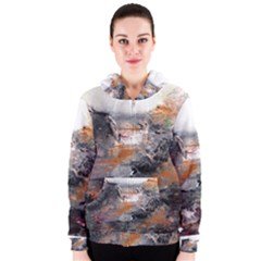 Natural Abstract Landscape Women s Zipper Hoodies