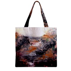Natural Abstract Landscape Zipper Grocery Tote Bags