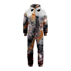 Natural Abstract Landscape Hooded Jumpsuit (Kids)